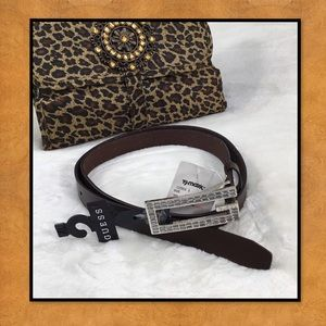 NWT GUESS BROWN BELT WITH RHINESTONEs  XL